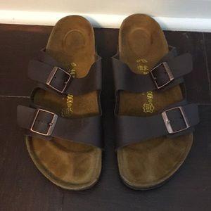 Men's Brown Leather Birkenstock sandal